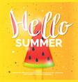 hello best summer vector image vector image