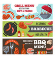 horizontal banners set with vector image vector image