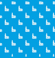houses pattern seamless blue vector image vector image