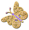 jewelry gold butterfly in gems beautiful vector image vector image