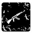 Kalashnikov machine icon grunge style vector image vector image