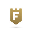 Letter F shield logo icon design template elements vector image vector image