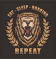 lion roaring vector image vector image