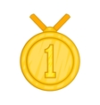 Medal for first place icon cartoon style vector image vector image
