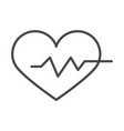 medical healthy heartbeat life line icon design vector image