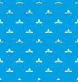 modern hat pattern seamless blue vector image vector image
