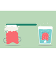 orthodontics braces cleaning vector image vector image