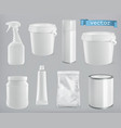 packaging building and sanitary white plastic vector image vector image