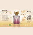 perfume template vector image vector image