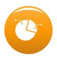 pie chart icon orange vector image vector image