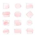 pink watercolor brush stroke splash with vector image vector image