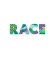 race concept word art vector image