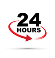 red 24 hours vector image vector image