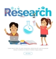 Research Conceptual Banner in Flat Design