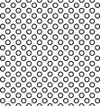 Seamless black and white ring pattern design vector image vector image