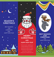season greeting from santa claus winter holiday vector image vector image