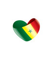 senegal flag on a white vector image vector image