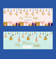 set 2 sale banners with beautiful christmas