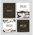 set bright hand drawn cards templates greeting vector image vector image