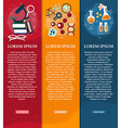 Set of banners chemistry and Physics design vector image