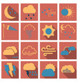 set of weather beautiful and estetic icons on vector image vector image