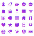 shopping gradient icons on white background vector image