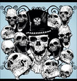 skull tattoo wallpaper vector image vector image