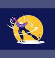 speed skater vector image