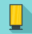 street light box icon flat style vector image vector image