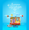 summer vacation vacation travelling composition vector image vector image