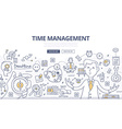 Time Management Doodle Concept vector image vector image