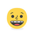 trendy unhappy emoji smile eps10 vector image vector image