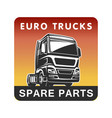 truck spare parts cargo freight logo template vector image vector image