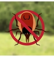 Warning Symbol parasite sign The woods can be