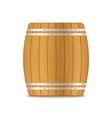 wooden barrel vector image