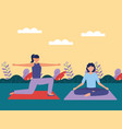 yoga outdoor flat design image vector image