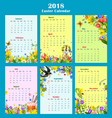 easter year calendar template with floral decor vector image