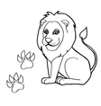 paw print with Lions Coloring Pages vector image