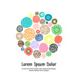 cute greeting card template with dots vector image