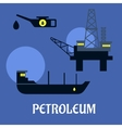 Petroleum industry flat infographics icons vector image