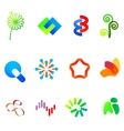 12 colorful symbols set 23 vector image vector image