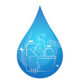 a drop of water and cleaning products vector image vector image
