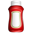 A red bottle vector image vector image