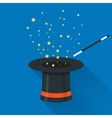 Abracadabra cartoon concept Magic wand with stars vector image vector image