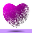 An abstract heart with tree branches