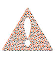 attention triangle sign mosaic of falling airplane vector image