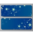 Banners with night sky background vector image vector image