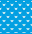 butterfly with big wings pattern seamless vector image vector image