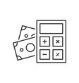 calculator with money vector image vector image
