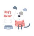 cartoon dog in scandinavian style vector image vector image